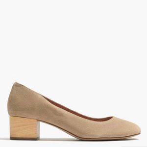 Madewell Ella Pump Size 9 Tan Cliff Suede